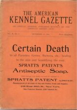 American Kennel Club Gazette, 1898, EXTREMELY RARE