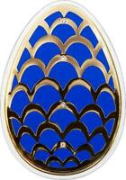 Cook 2012 Imperrial Pine Cone Easter Egg Colour Silver Coin
