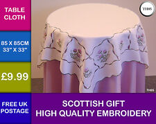 New Scottish Gift Thistle Embroidered Kitchen Dining Tablecloth Table Cover TH8