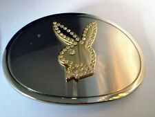 Famous Playboy Bunny Rhinestone Round Belt Buckle Star