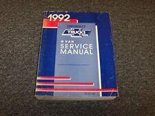 1992 Chevy G10 G20 G30 Van Shop Service Repair Manual 4.3L 5.0L 5.7L 6.2L V6 V8