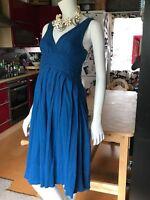 MARC JACOBS SIZE 2 (UK 8) GRECIAN COTTON COBALT SUNDRESS DRESS