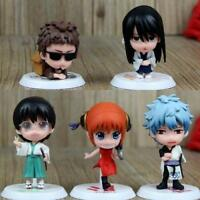 GINTAMA Sakata Gintoki figures PVC doll Action Figure set of 5pcs animation
