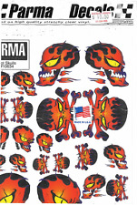 10634 Parma Hot Skulls Vinyl Stick on Decals 1 32 and 1 24