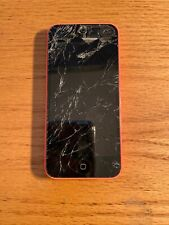 Apple iPhone 5c - 8GB - Pink (Verizon)locked-no sim card-works-broken screen