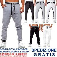 Pantaloni Tuta da Uomo a Cavallo Basso alla Moda Fashion per Casual Sport Corsa