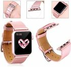 Apple iWatch 38mm Leather Band Bracelet Buckle Wrist Strap Series 1,2 Rose Gold