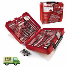 New Craftsman 100-pc Accessory Kit Set Drill Bit Driver Screw Tools Case 31639