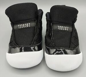 Jordan 11 Crib Bootie Jubilee 25th Anniversary CI6165-061 Size 2C Black