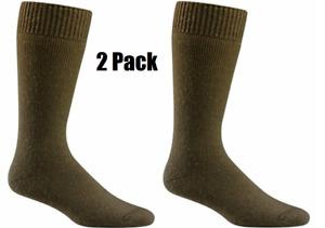 2 Pack Wigwam S8001 Combat Boot Coyote Brown Sock Large Men9-12 Women 10-13 New