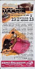 Nimeno ll MADRID Affiche CORRIDA Romero Flores Espartaco Manuel Vidrié SORO 1983