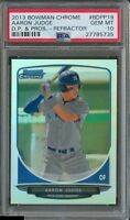 PSA 10 AARON JUDGE 2013 Bowman Chrome REFRACTOR Yankees Rookie Card RC GEM MINT