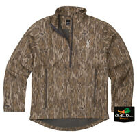 NEW BROWNING WICKED WING 1/4 ZIP SMOOTHBORE JACKET - BOTTOMLAND CAMO -