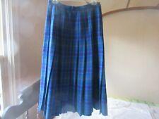 New listing Pendleton 100% Wool Skirt Size 12 Purple Aqua Blue Plaid Pleated