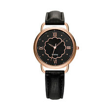 Noblag Mademoiselle Classic Luxury Watches For Women Black Leather Strap 40mm