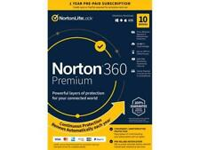 Norton 360 Premium 10 Devices 1 Year 75GB PC Cloud Storage 2020 - Email Delivery