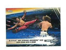 AJ Styles & Nakamura 2019 Topps WWE Summerslam BLUE PARALLEL Card #63 /99