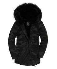 SUPERDRY WOMENS Rookie Hawk Parka Jacket - NAVY CAMO - XS - BRAND NEW