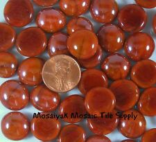 Mini Red Roasted Opal Luster * Glass Gems Mosaic Tile Tiles