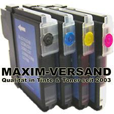 4 Drucker-Patronen Set für Brother LC980BK LC980C LC980Y LC980M kein Original