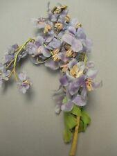 Vintage Silk Velvet Millinery Fabric Flower Lavender Purple