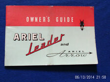 RARE WORKS ARIEL LEADER AND ARROW OWNERS GUIDE 1962