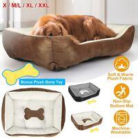 Large Soft Warm Fleece Pet Bed Dog Cat Cozy Cushion Mats Machine Washable