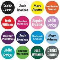 50 x 25MM PERSONALISED STICK ON NAME LABELS TAGS WATERPROOF FOR SCHOOL / SHOES