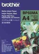 Brother A4 Inkjet Foto Papier matt  BP-60MA  dokumentenecht Fotopapier Photo NEU