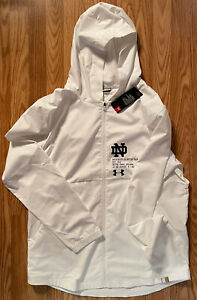 Notre Dame Football Team Issued Full Zip Hooded Jacket New Tags Large