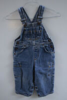 Levi's Baby Toddler Distressed Blue Denim Jean Overalls Size 24M 24 Months