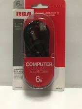 RCA 6 ft Computer USB 2.0 A to B Cable