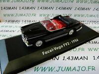GZ3C Voiture 1/43 test ATLAS Mythiques cabriolets: FACEL VEGA FV2 cabriolet 1956