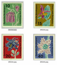 Flowers German & Colonies Stamps