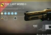 Destiny 2 The last word full quest completion on Ps4/Pc