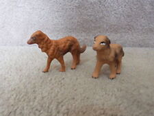 """Lot of 2 Vintage Japan Christmas Putz Display Bisque Dogs 2.75"""""""