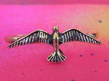 2 Finger Bird Spread WIngs Double Finger Ring Brass Knuckle Style Ring Women