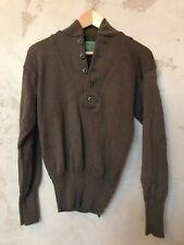 Vintage Nwot Mens Brown Medium (38-40) 100% Wool Knit Warm Sweater