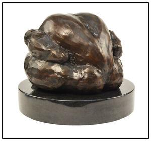 Jeanie Renchard Original Bronze Sculpture Signed Male Figurative Full Round Art