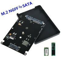 M.2 NGFF (SATA) SSD to 2.5in SATA Adapter Card 7mm Thickness Enclosure with Case