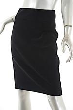 CHANEL Black 100% Cotton Softest Velvet Drop Waist Skirt  38 US 6  Circa 2004A