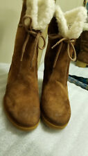 HUSH PUPPIES Brown Suede Insulated Casual Boots Women's Size 7 W
