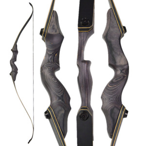 """60"""" Takedown Recurve Bow 25-65lbs Archery Bamboo Core Limbs Hunt Right Left Hand"""
