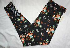 NWT! Women's Black Floral Print BOBBIE BROOKS Soft Cut Out Leggings Plus Size!