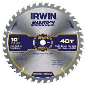 Irwin Industrial Tools 14070 10-Inch 40-Teeth Miter and Table Saw Blade