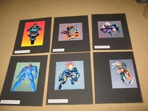 6 authentic MARVEL COMICS ghost rider & villians Cartoon COLOR COMP art CARD