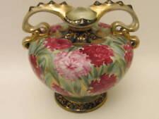 Gorgeous Antique Large Hand Painted Nippon Mums Vase #52 1900