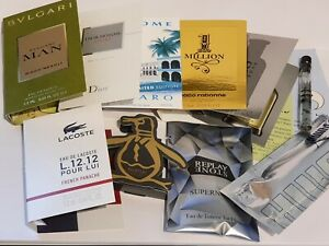 10 x Mens sample travel size fragrance aftershave Dior, Diesel, One Million