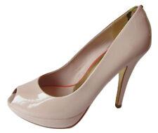 Ted Baker London Svana Nude Patent Leather Peeptoe Heels Size 9.5
