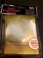 Ultra Pro DECK PROTECTOR Pack 60 Card Sleeves METALLIC GOLD Size SMALL Yugioh